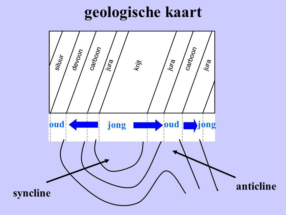 geologische kaart oud jong oud jong anticline syncline