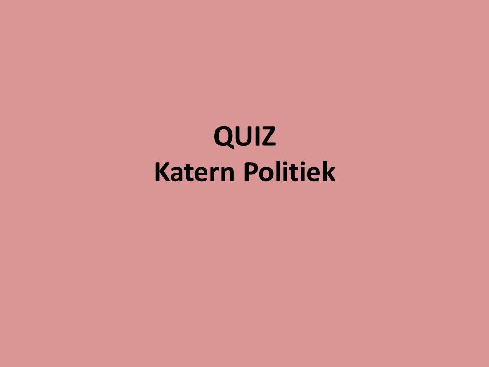 QUIZ Katern Politiek