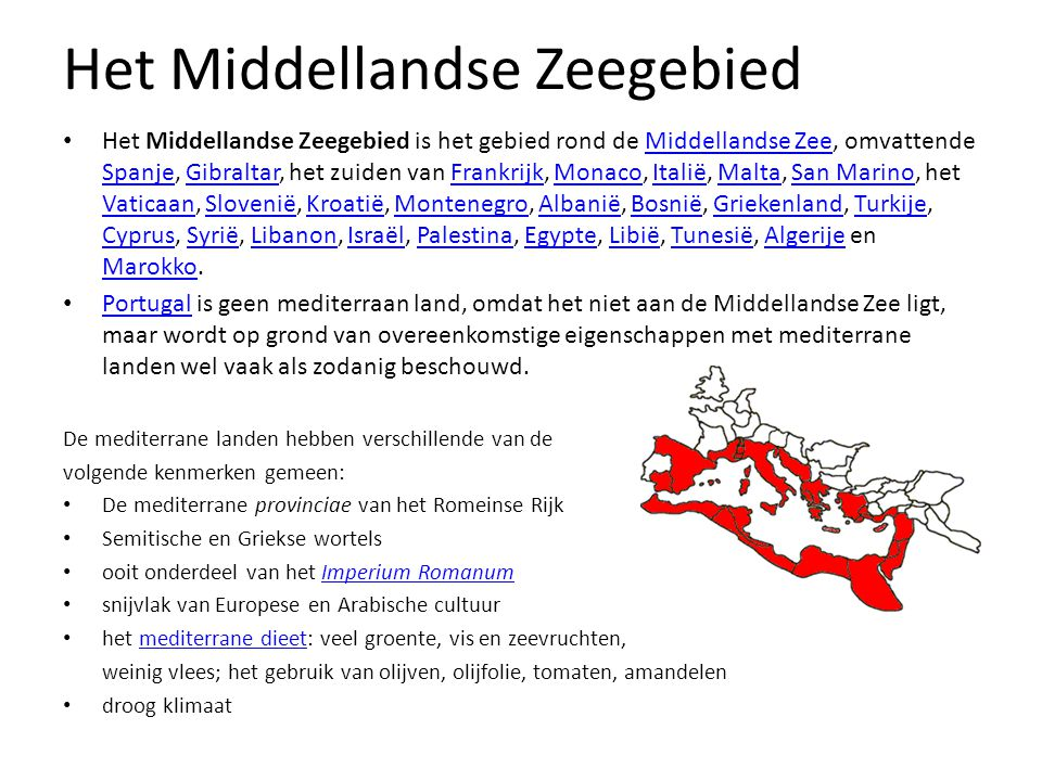 Het Middellandse Zeegebied