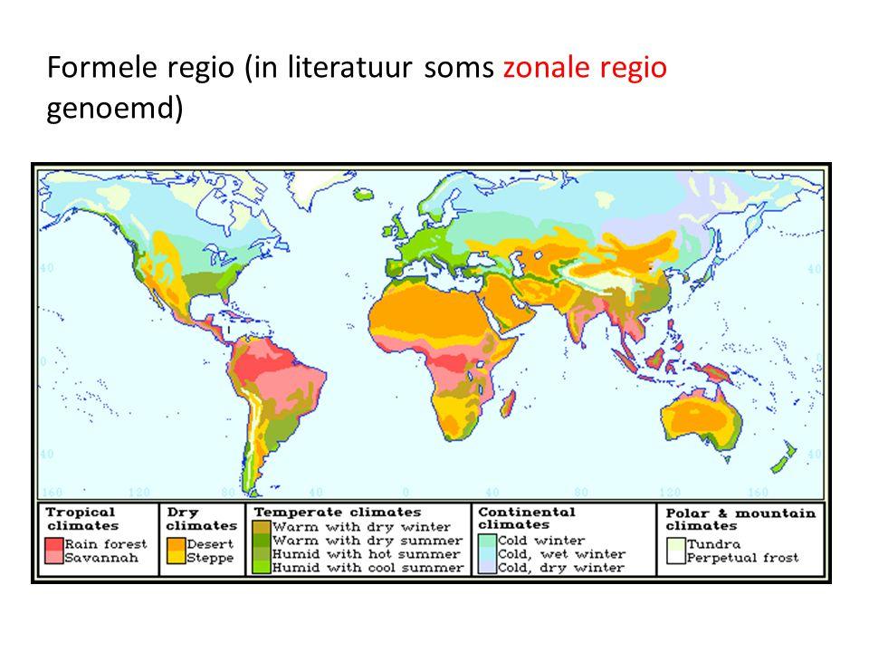 Formele regio (in literatuur soms zonale regio genoemd)