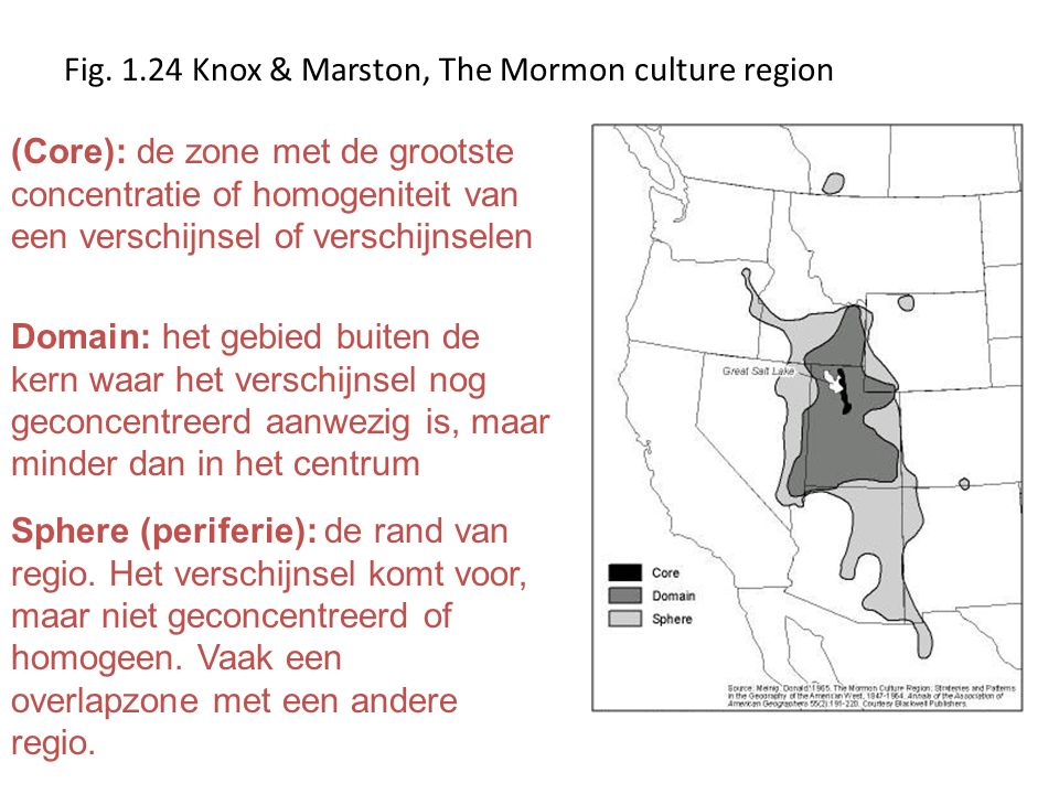 Fig. 1.24 Knox & Marston, The Mormon culture region