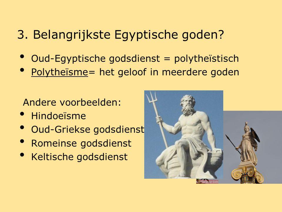 3. Belangrijkste Egyptische goden
