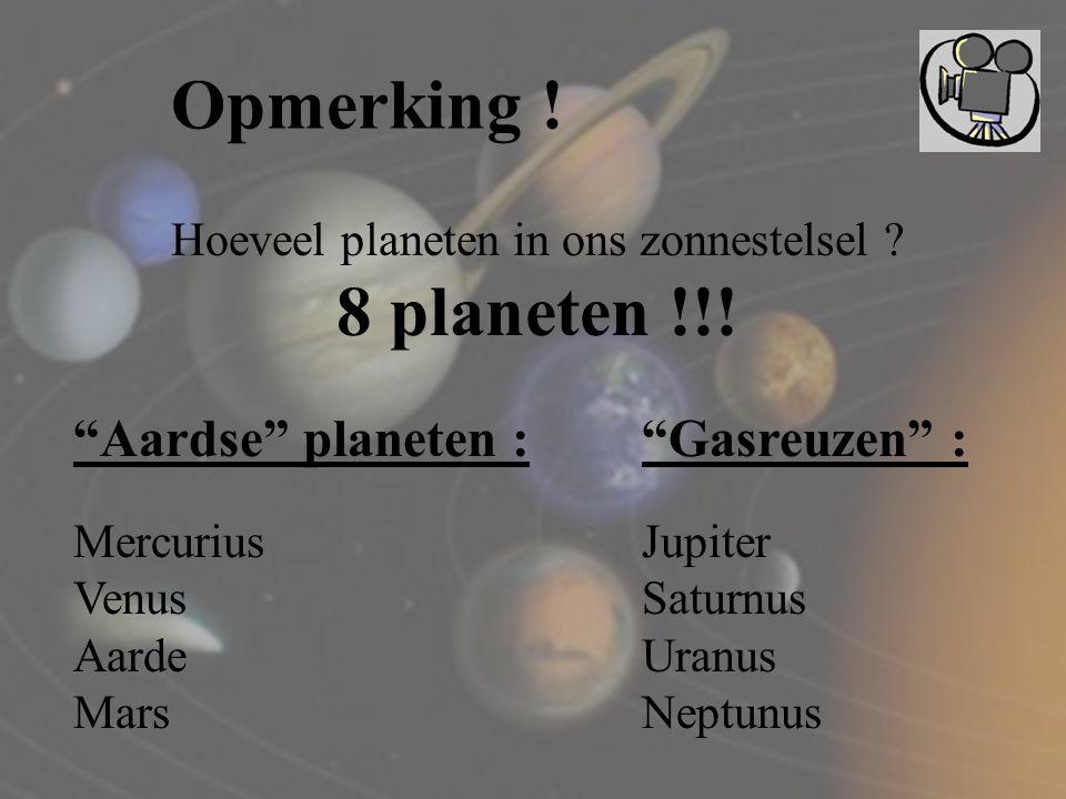 Hoeveel planeten in ons zonnestelsel
