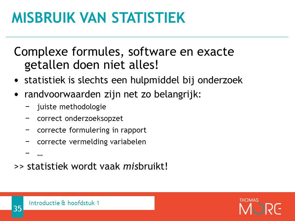 Misbruik van statistiek