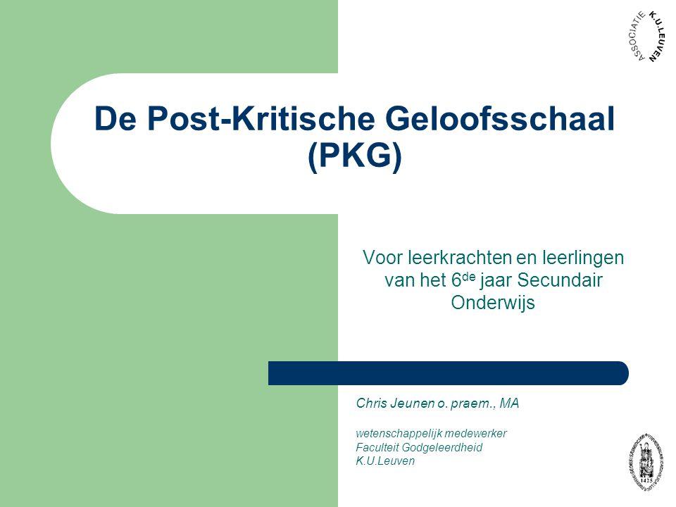 De Post-Kritische Geloofsschaal (PKG)