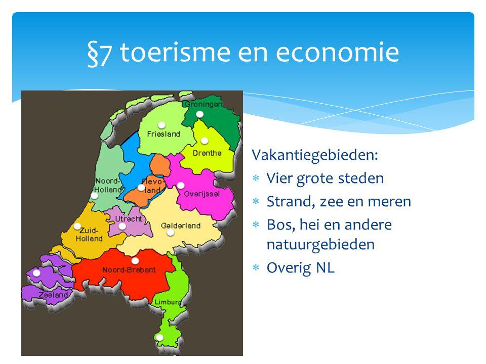 §7 toerisme en economie Vakantiegebieden: Vier grote steden
