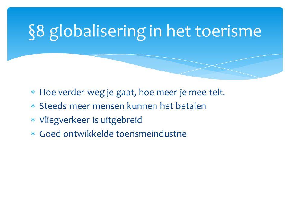 §8 globalisering in het toerisme