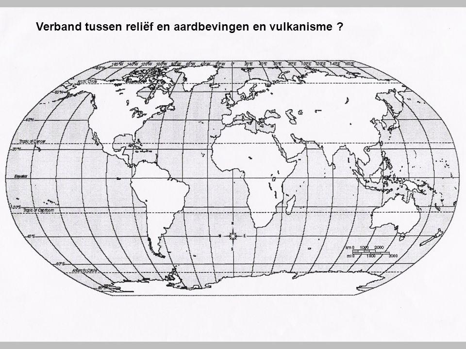 Verband tussen reliëf en aardbevingen en vulkanisme
