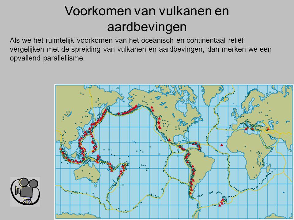 Voorkomen van vulkanen en aardbevingen