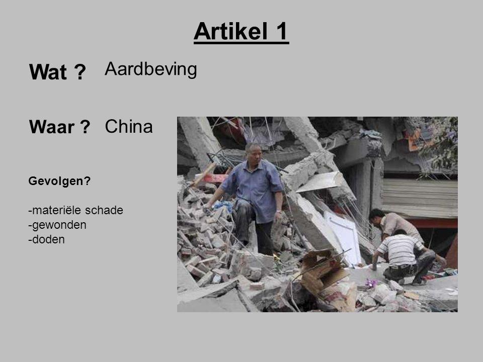Artikel 1 Wat Aardbeving Waar China Gevolgen materiële schade