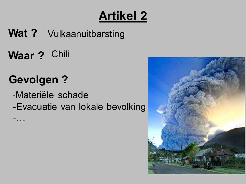 Artikel 2 Wat Waar Gevolgen Vulkaanuitbarsting Chili