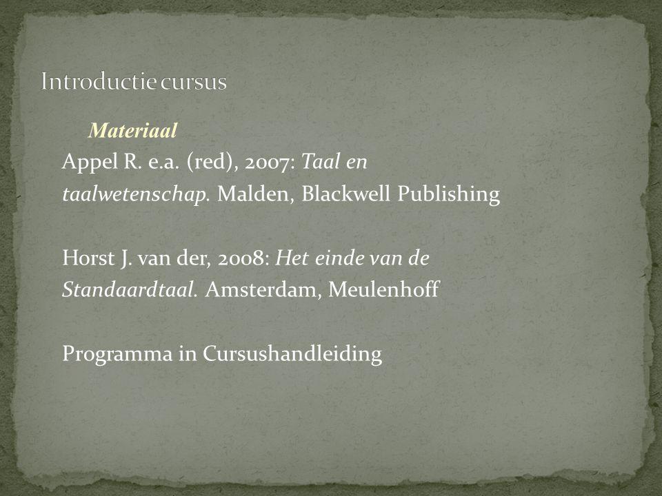 Introductie cursus