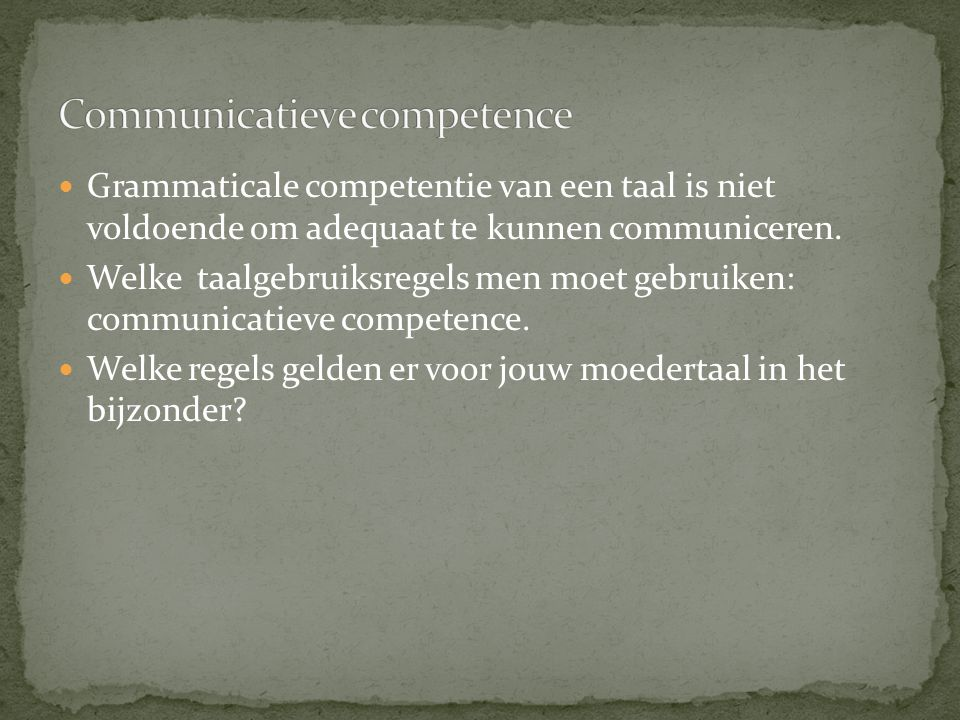 Communicatieve competence