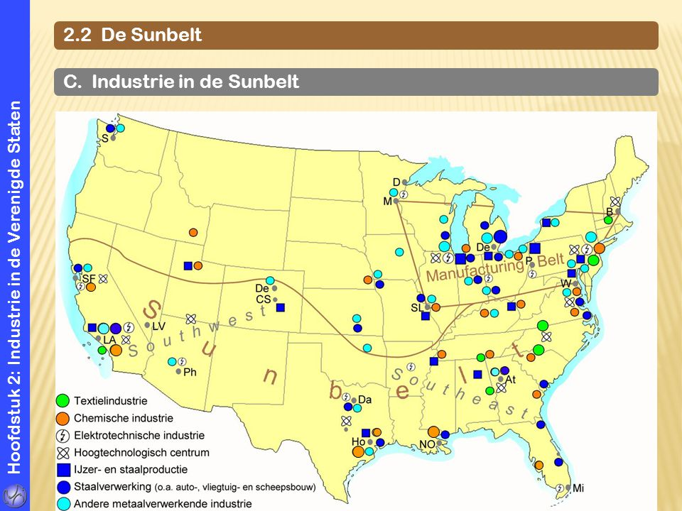 C. Industrie in de Sunbelt