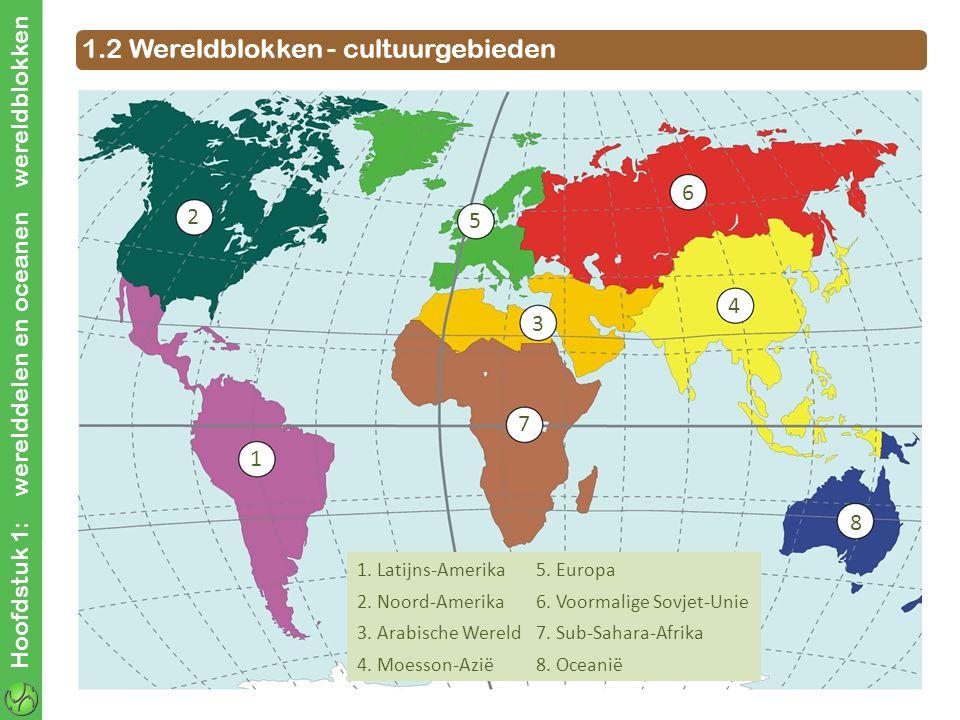 1.2 Wereldblokken - cultuurgebieden