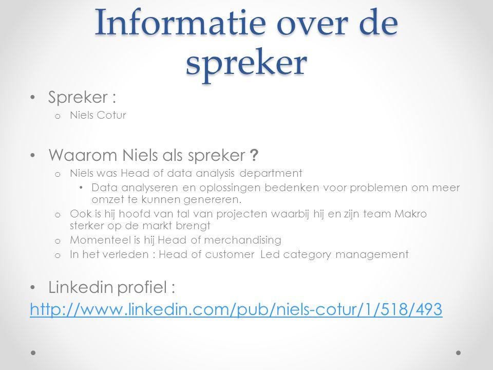 Informatie over de spreker