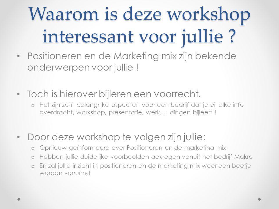Waarom is deze workshop interessant voor jullie
