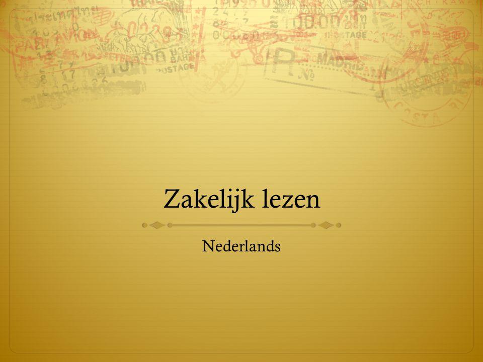 Zakelijk lezen Nederlands