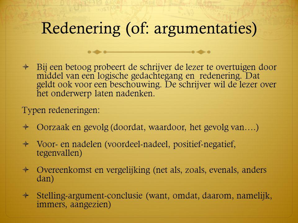 Redenering (of: argumentaties)