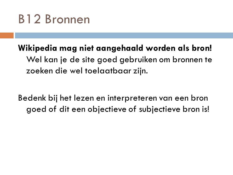 B12 Bronnen
