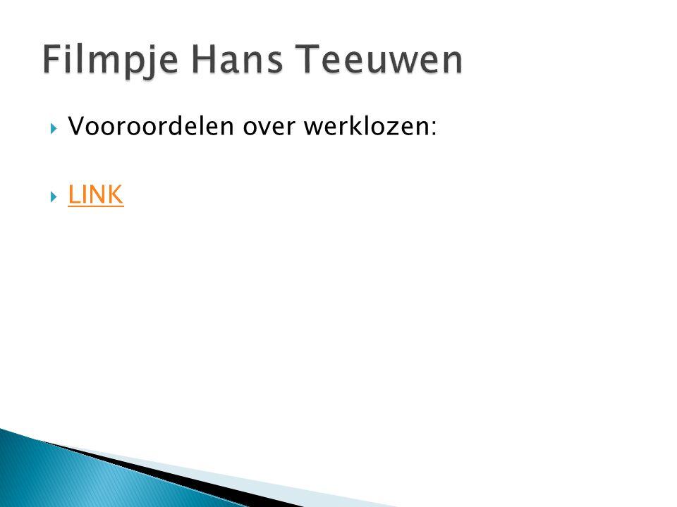 Filmpje Hans Teeuwen Vooroordelen over werklozen: LINK