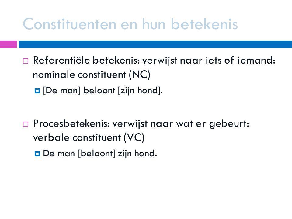 Constituenten en hun betekenis