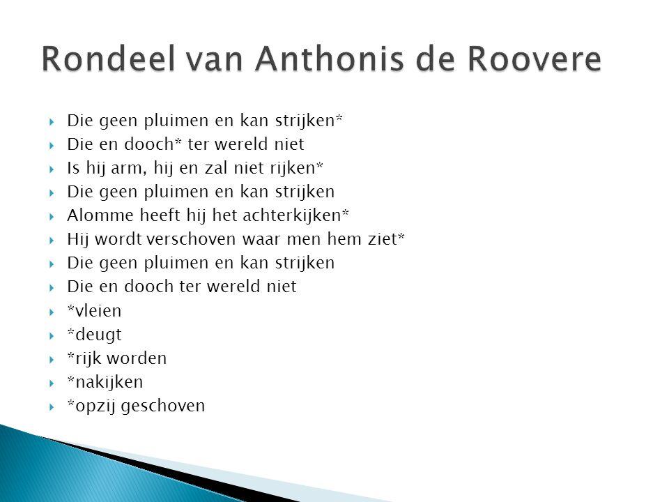 Rondeel van Anthonis de Roovere
