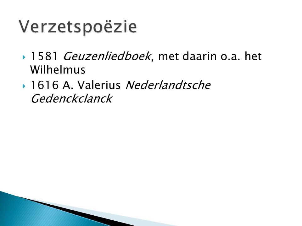 Verzetspoëzie 1581 Geuzenliedboek, met daarin o.a. het Wilhelmus