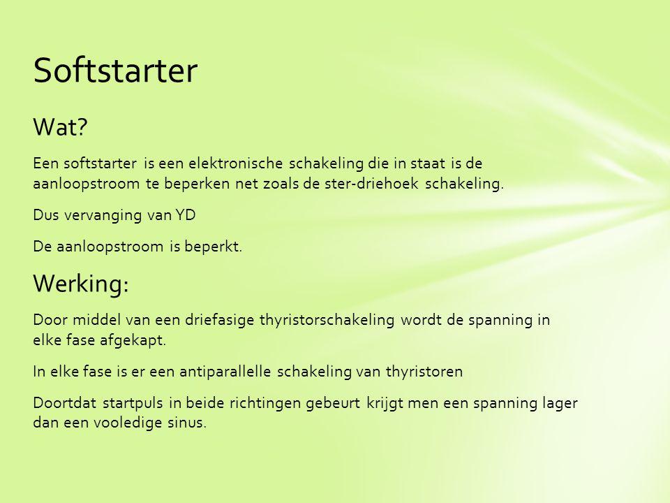 Softstarter Wat Werking: