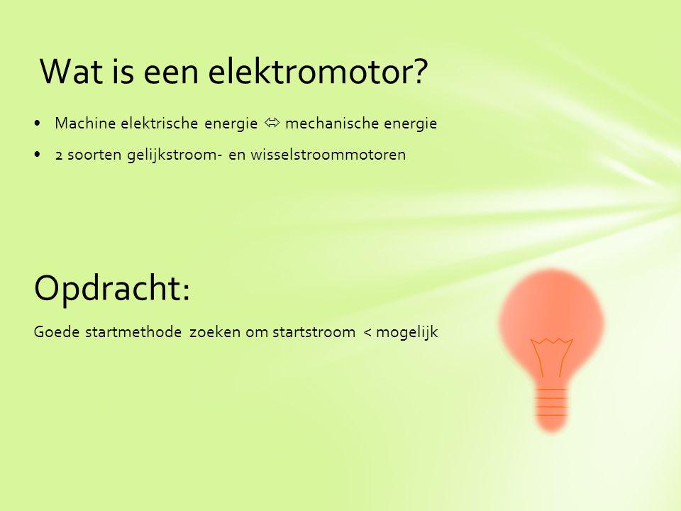 Wat is een elektromotor