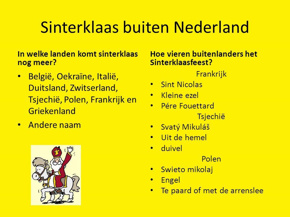 Sinterklaas buiten Nederland