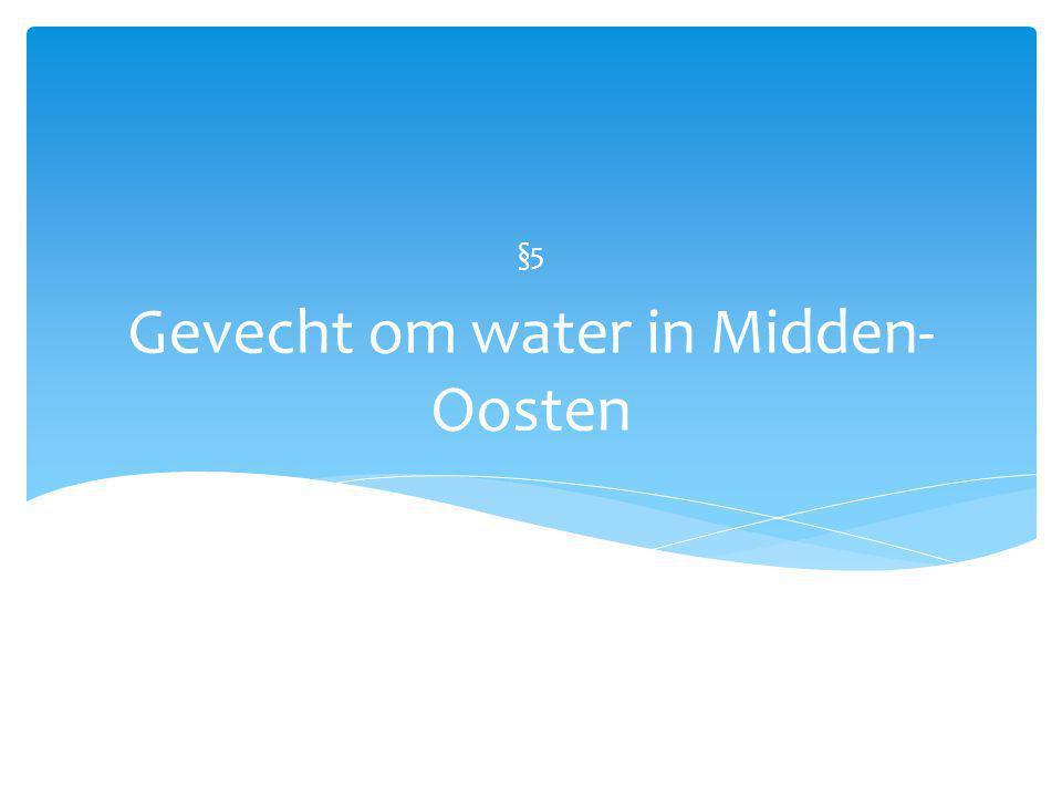 Gevecht om water in Midden-Oosten
