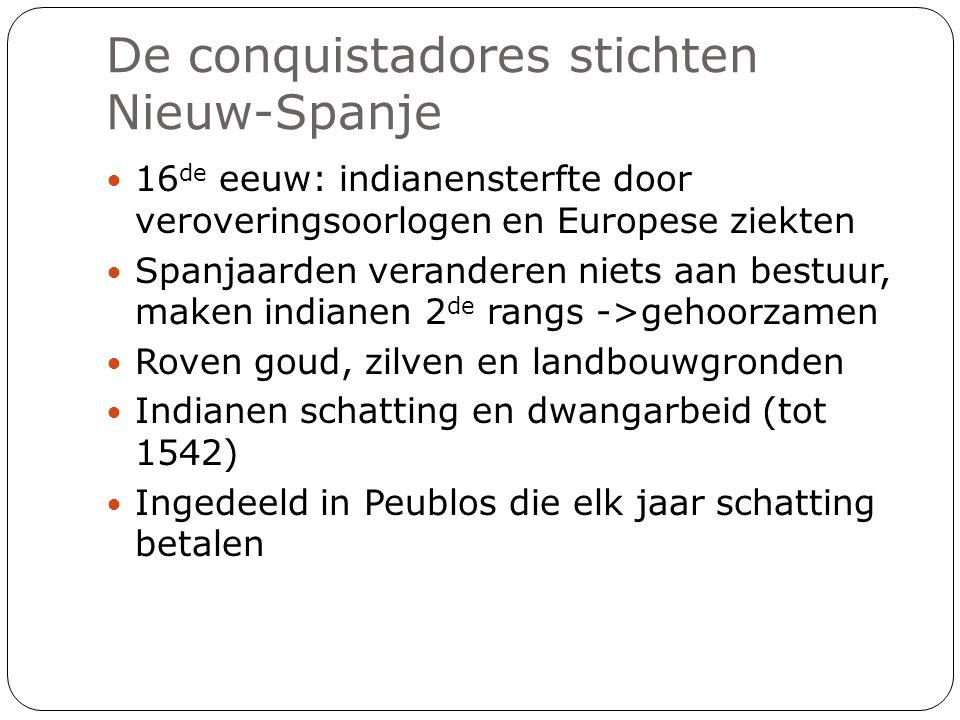 De conquistadores stichten Nieuw-Spanje