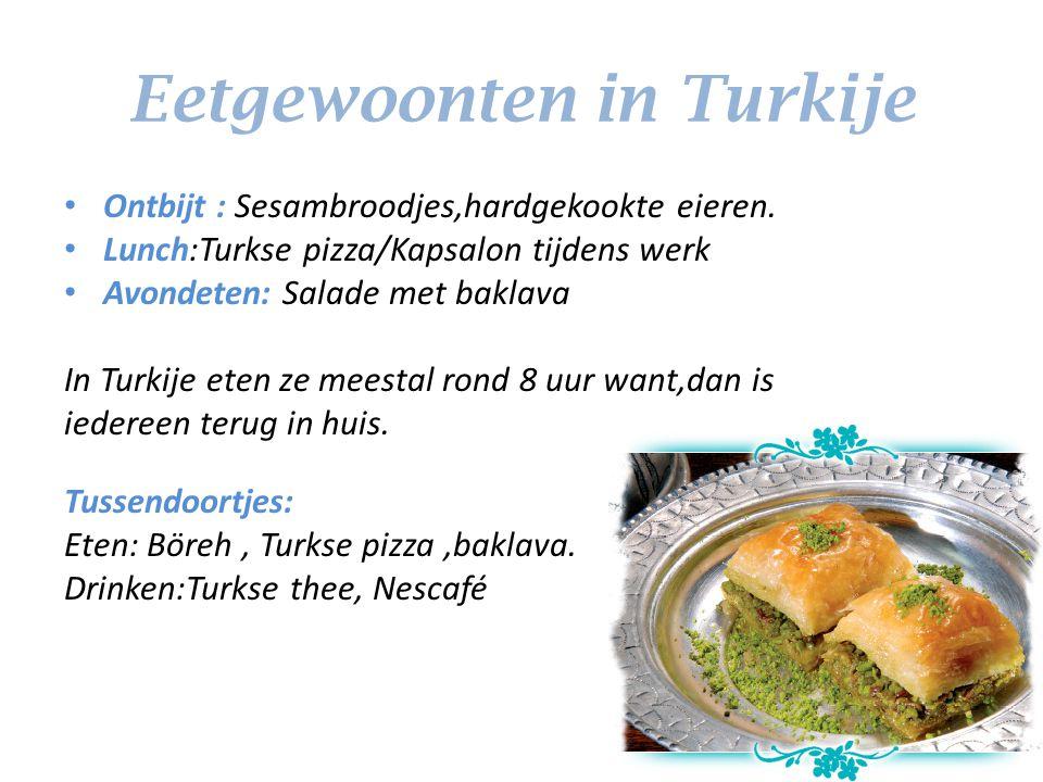 Eetgewoonten in Turkije