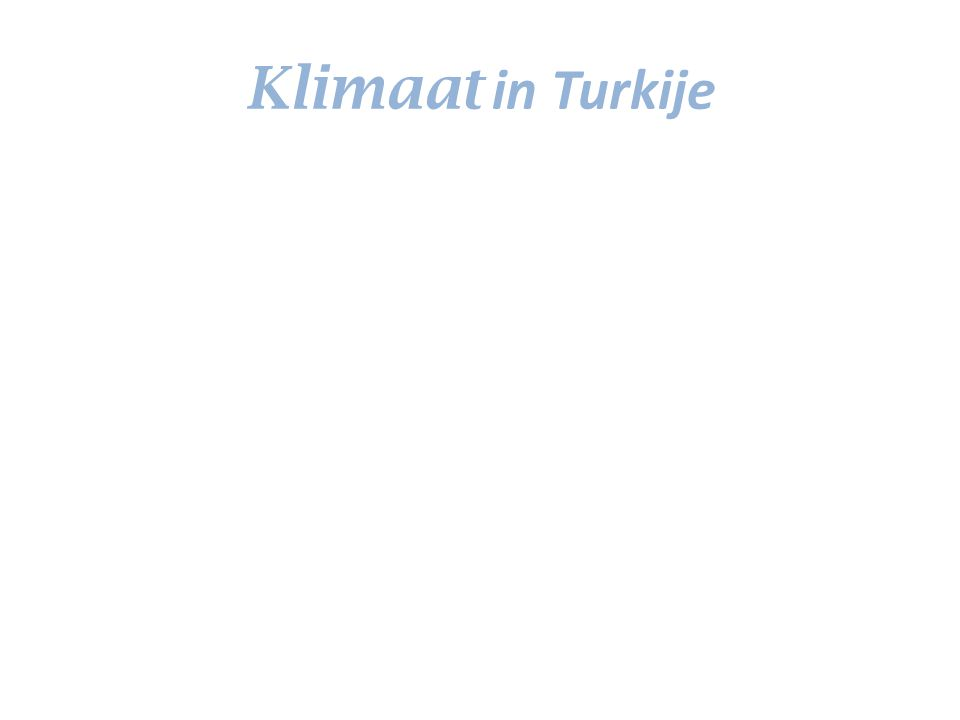 Klimaat in Turkije