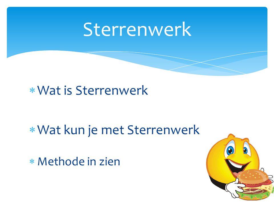 Sterrenwerk Wat is Sterrenwerk Wat kun je met Sterrenwerk