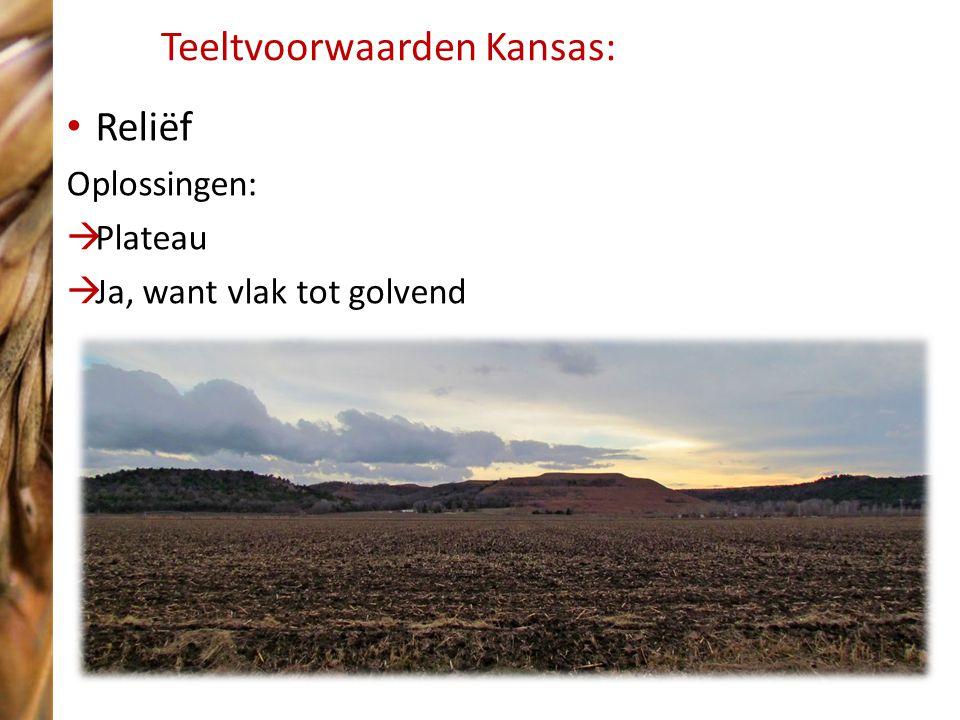 Teeltvoorwaarden Kansas: