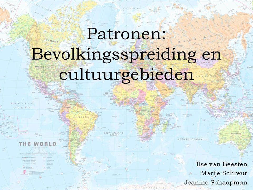 Patronen: Bevolkingsspreiding en cultuurgebieden