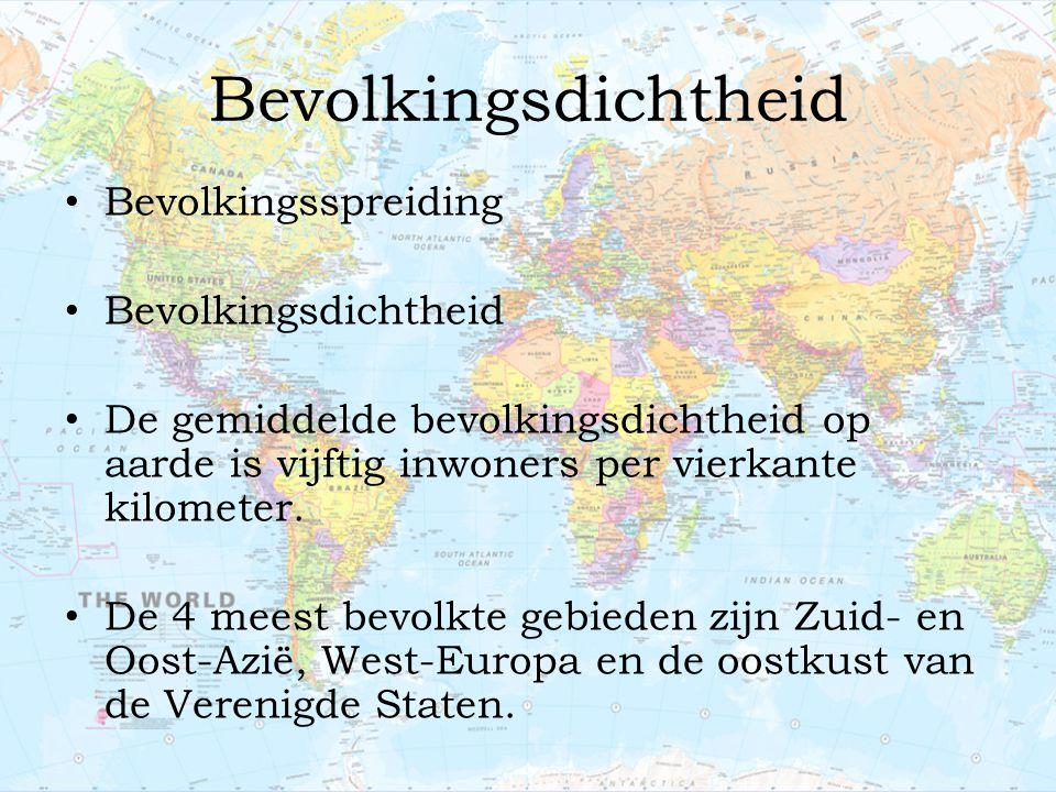 Bevolkingsdichtheid Bevolkingsspreiding Bevolkingsdichtheid