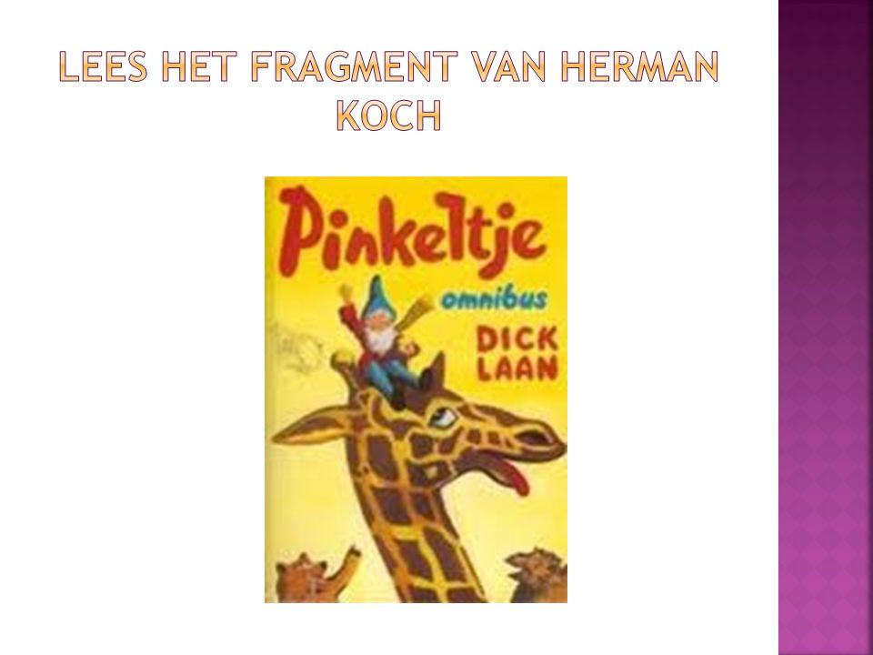 lees het fragment van Herman Koch