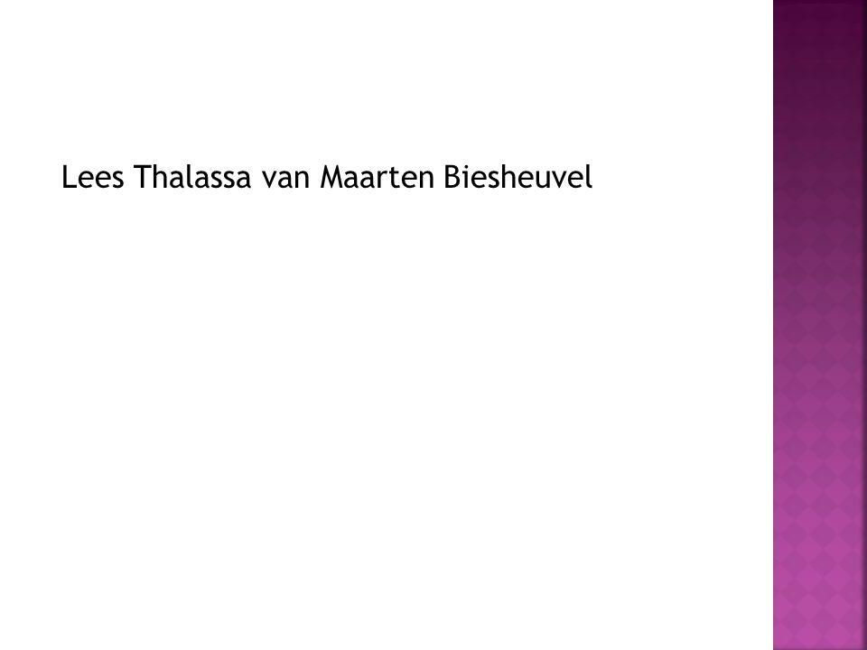 Lees Thalassa van Maarten Biesheuvel