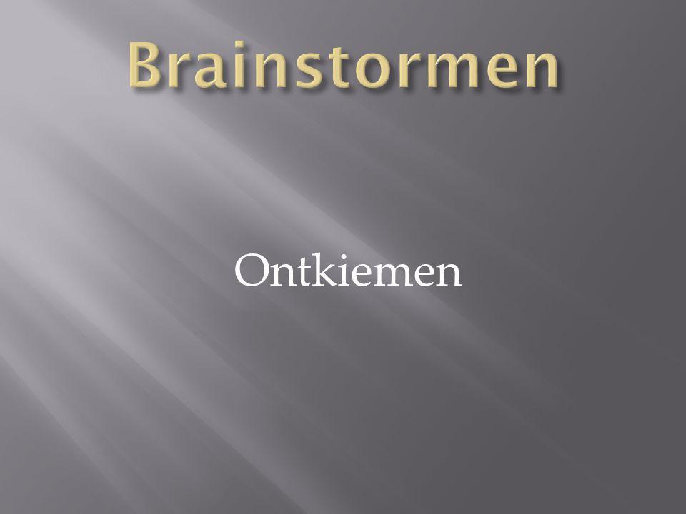 Brainstormen Ontkiemen