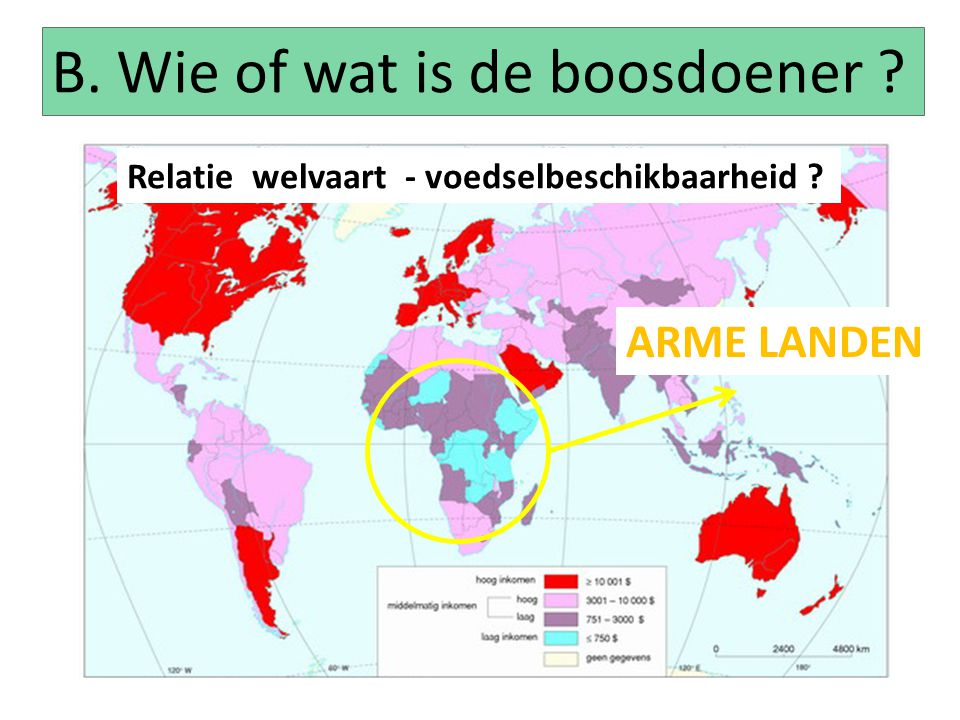 B. Wie of wat is de boosdoener