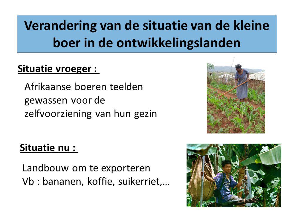 Verandering van de situatie van de kleine boer in de ontwikkelingslanden