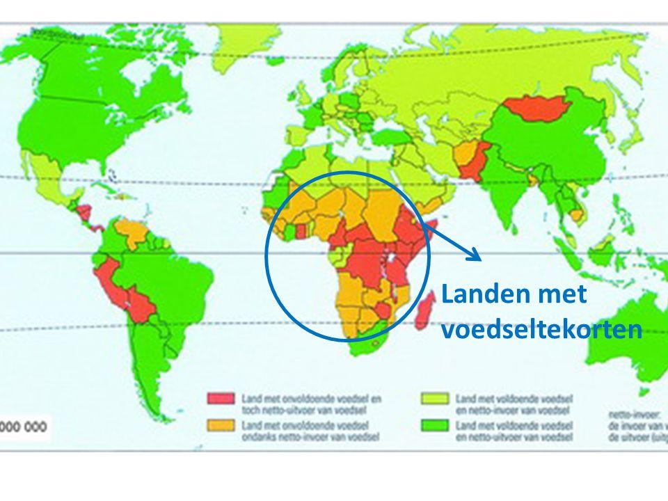 Landen met voedseltekorten