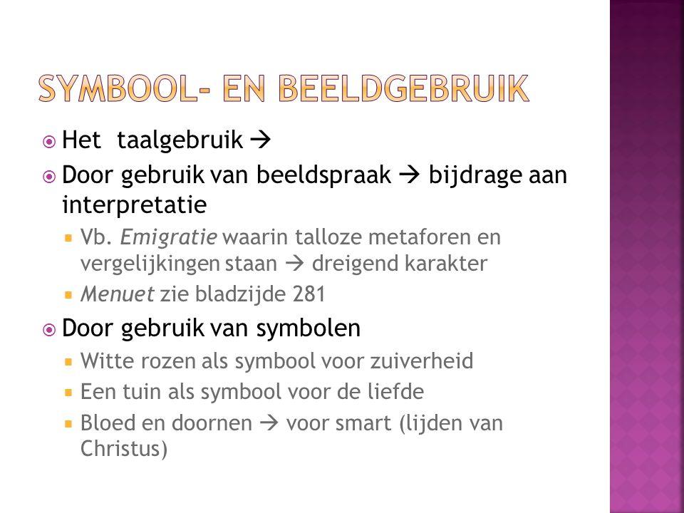 Symbool- en beeldgebruik
