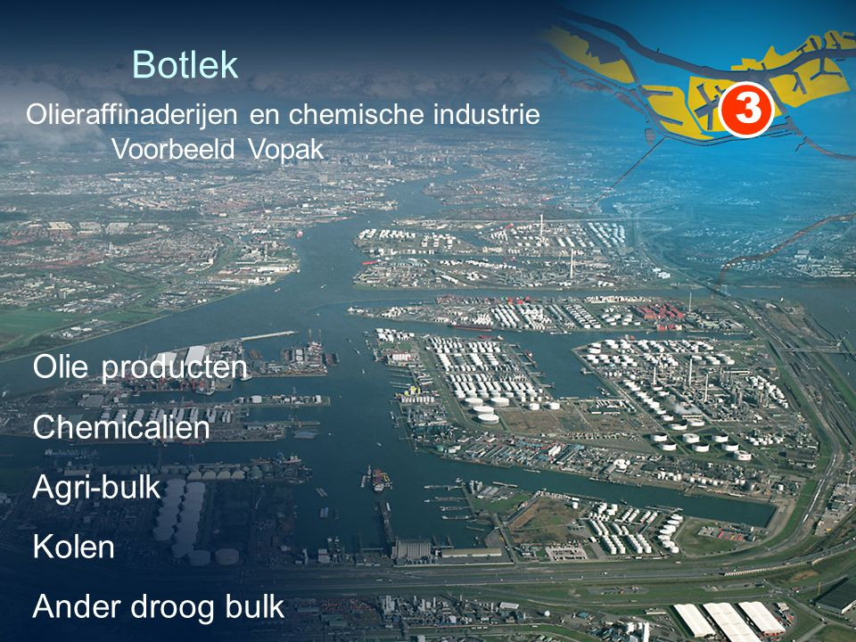 3 Botlek Olie producten Chemicalien Agri-bulk Kolen Ander droog bulk