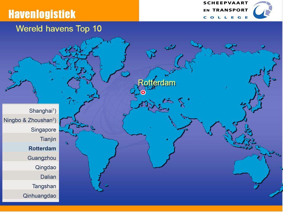 Wereld havens Top 10 Rotterdam Welke plaats staat rdam 2010-2011
