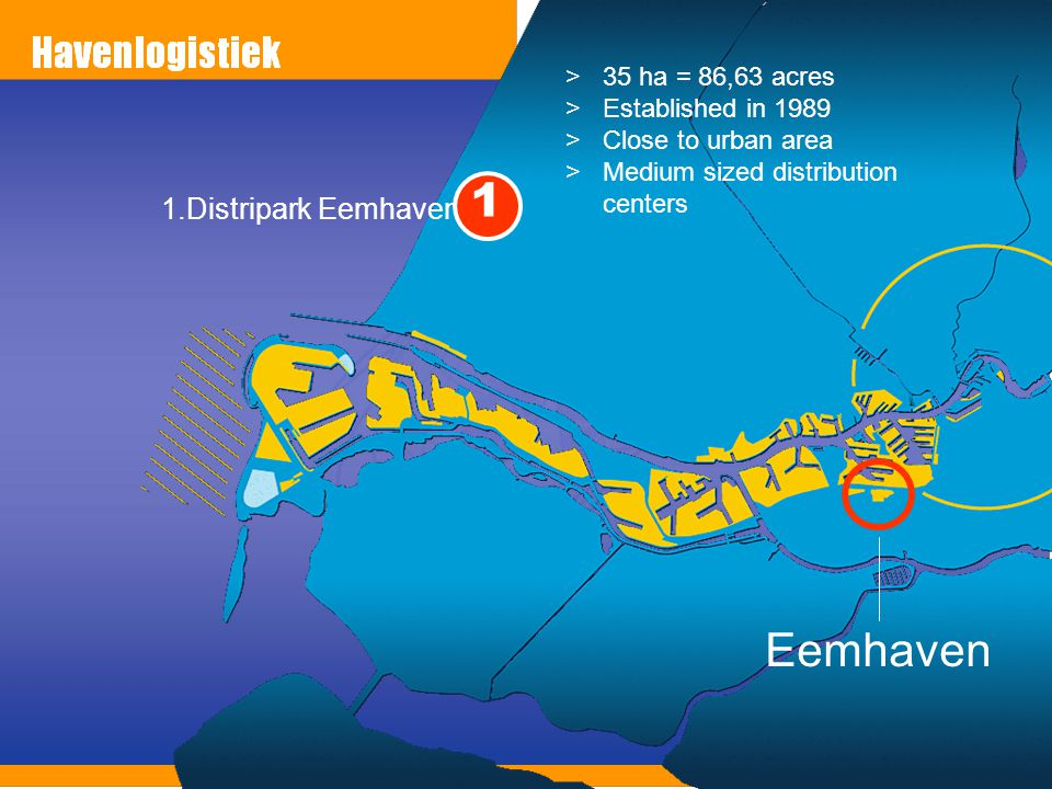 1 Eemhaven 1.Distripark Eemhaven 35 ha = 86,63 acres