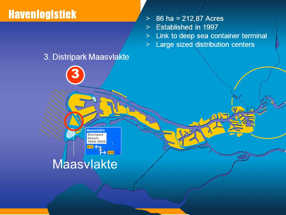 3 Maasvlakte 3. Distripark Maasvlakte 86 ha = 212,87 Acres